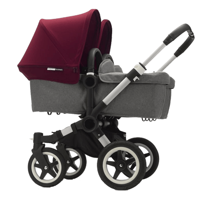 Bugaboo Коляска для двойни Donkey 2 Twin Ruby red