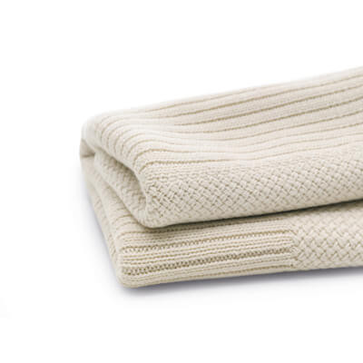 Плед Wool blanket Off-white melange