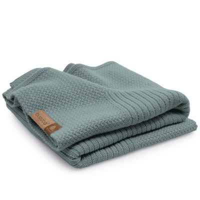 Плед Wool blanket Petrol blue